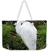 White Egret Weekender Tote Bag