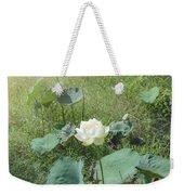 White Lotus Flower Flower Lotus Nature Summer Green Plant Blossom Asian Weekender Tote Bag