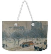 Winter In Union Square Weekender Tote Bag
