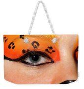 Young Female Model With Make Up Mask Weekender Tote Bag