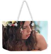 60's Flower Girl Weekender Tote Bag