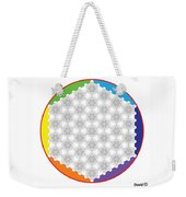 64 Tetra Flower Of Life Weekender Tote Bag