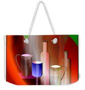 643  Still Life  With Bottles And  Cups  V  Weekender Tote Bag