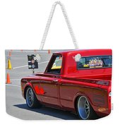 '67 Chevy C10 Awaits Green Light Weekender Tote Bag