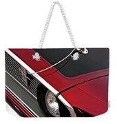 69 Mustang Hood Pin And Grille Weekender Tote Bag