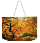 7 Abstract Japanese Maple Tree Weekender Tote Bag