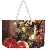 bs- George Henry Hall- Still Life George Henry Hall Weekender Tote Bag