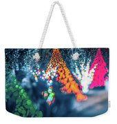 Christmas Season Decorationsafter Sunset At The Gardens Weekender Tote Bag