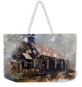 Church At Christmas Weekender Tote Bag