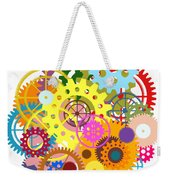 Gears Wheels Design  Weekender Tote Bag by Setsiri Silapasuwanchai