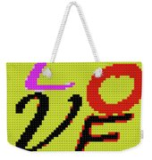 Graphic Display Of The Word Love  Weekender Tote Bag