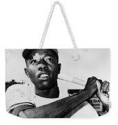Hank Aaron (1934- ) Weekender Tote Bag by Granger