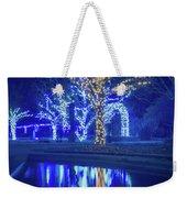 Lights, Christmas, Light, Christmas Tree, Green, Color, Red, Blu Weekender Tote Bag