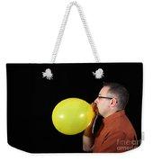 Man Inflating Balloon Weekender Tote Bag