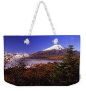 Mount Fuji In Autumn Weekender Tote Bag