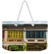 Old French Colonial Architecture In Kampot Town Street Cambodia Weekender Tote Bag
