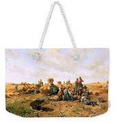 Peasants Lunching In A Field Daniel Ridgway Knight Weekender Tote Bag