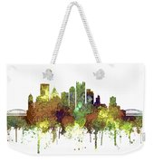 Pittsburgh Pennsylvania Skyline Weekender Tote Bag