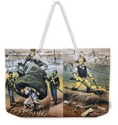 Reconstruction Cartoon Weekender Tote Bag