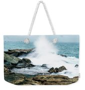 Rocks And Waves At Point Cartwright  Weekender Tote Bag