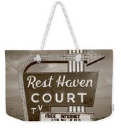 Route 66 - Rest Haven Motel Weekender Tote Bag