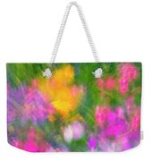 Summer Impression Series Panorama - Flowers Weekender Tote Bag by Ranjay Mitra