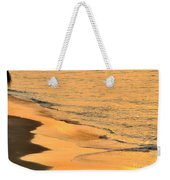 Waiting For The Wave In Sepia Weekender Tote Bag