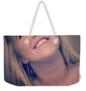 Young Woman Getting Ready To Night Out Weekender Tote Bag