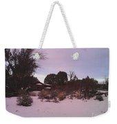 Snowy Desert Landscape Weekender Tote Bag