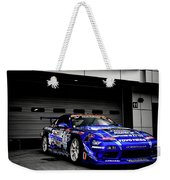 7763 Nissan Tuning Race Cars Blue Cars Selective Coloring Weekender Tote Bag