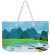 Karst Rural Scenery In Raining Weekender Tote Bag