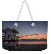 7935- Miami Beach Sunrise 14x25 Weekender Tote Bag