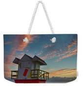 7944- Miami Beach Sunrise Weekender Tote Bag