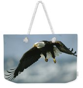 An American Bald Eagle In Flight Weekender Tote Bag