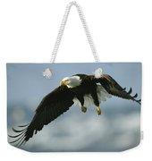 An American Bald Eagle In Flight Weekender Tote Bag