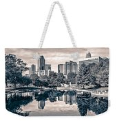 Charlotte City North Carolina Cityscape During Autumn Season Weekender Tote Bag