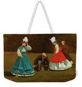 Croquet Scene Weekender Tote Bag