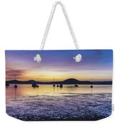 Dawn Waterscape Over The Bay With Boats Weekender Tote Bag