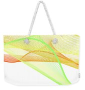 Dynamic And Bright Linear Spiral With Colorful Gradient Weekender Tote Bag