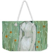 Girl In White Weekender Tote Bag