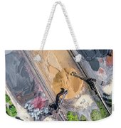 Mining Excavator On The Bottom Surface Mine.  Weekender Tote Bag
