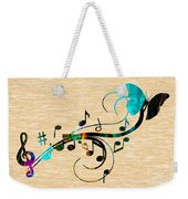 Music Flows Collection Weekender Tote Bag