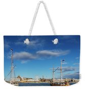 Old Sailing Boats In Helsinki City Harbor Port Finland Weekender Tote Bag
