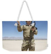 Pararescuemen Conducts A Communications Weekender Tote Bag