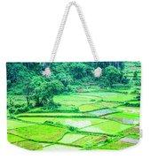 Rice Fields Scenery Weekender Tote Bag