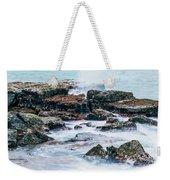 Rocks And Waves At Point Cartwright  Weekender Tote Bag