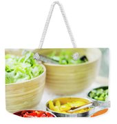 Salad Bar Buffet Fresh Mixed Vegetables Display Weekender Tote Bag