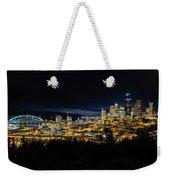 Seattle Skyline At Night Weekender Tote Bag
