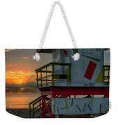 8097- Miami Beach Sunrise Weekender Tote Bag