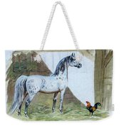 #84 - The Gray And The Rooster Weekender Tote Bag